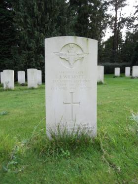 Headstone of L/Cpl J Wilmott, Becklingen War Cemetery, August 2011.