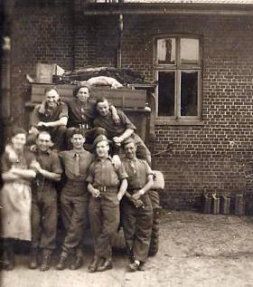 Leslie Dunn, 2nd from the left, 1st row, date unknown.