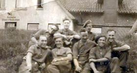 Gunner Dunn, 1st left front row, date unknown.