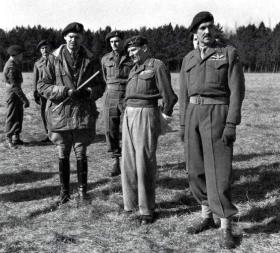 Maj Gen Gale, Gen Montgomery and Brig Kindersley, Salisbury Area, 8 March 1944.
