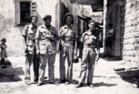 L/Cpl Pedersen with 334th Forward Observer Battery, Palestine.