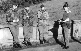 Members of 1 Para Provost Pln RMP (V) on exercise, 1970.