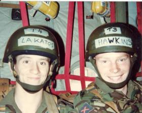 Ptes Joe Lakatos & Stephen Hawkins at No 1 PTS, RAF Brize Norton, 1982.