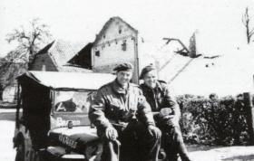 Sgt Scott MM and Padre Bristoe, 6 April 1945.