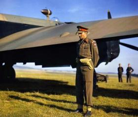 Lieutenant General F A M Browning, GCVO, KBE, CB, DSO at Netheravon, October 1942.