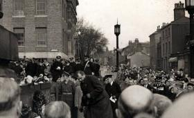 Capt Midwood laying a wreath on behalf of Para veterans, date unknown.