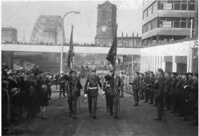 The Laying up of the 17th Battalion Colours, 1970.