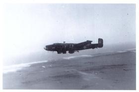 Halifax over Yibneh dropping zone, RAF Aqir