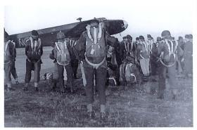 Parachute course - RAF Aqir, 1947.