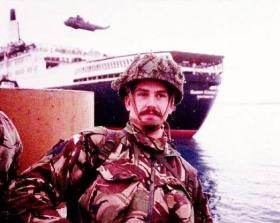 L/Cpl John Pashley, 9 Parachute Squadron RE, Falkland Islands, 1982.