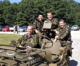 Members of 144 PMS, Leapfest, Rhode Island, 2007.