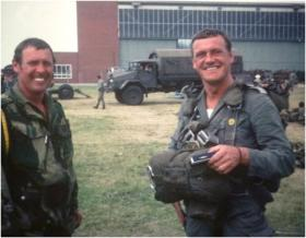 CSM Burnikell and Unknown, German Para Course 1976.