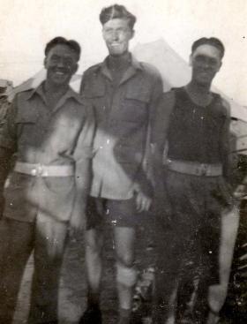 Three member of 211 Airlanding Light Battery RA, Palestine, 1946.