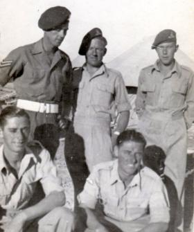 Five troops of 211 Airlanding Light Battery RA, Palestine, 1946.