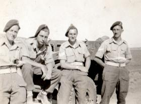 Members of 211 Airlanding Light Battery RA, in Palestine, 1946.