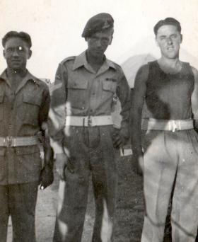 Gnrs P Lemon, J Jolley and  E Lemon, Palestine, 1946.