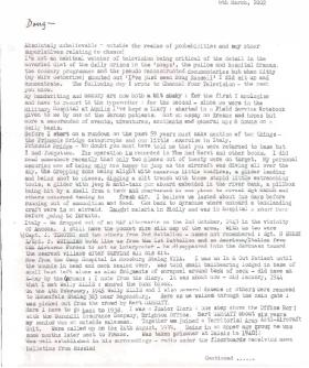 Letter from Deryk Venables to Doug Russell, 2002.