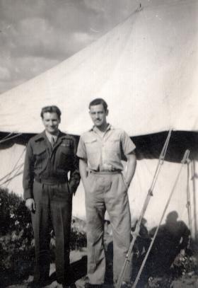 'Lew' and 'Reg', 398 (Airborne) Composite Company RASC, Palestine, 23 March 1947.