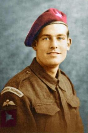 Pte L Kemp aged 20, 1944.