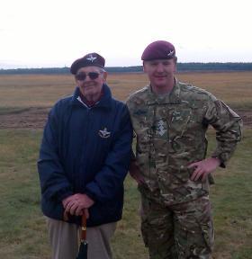 Lewis Kemp and Capt 'Pinky' Phillips, Ginkel Heath, September 2012.