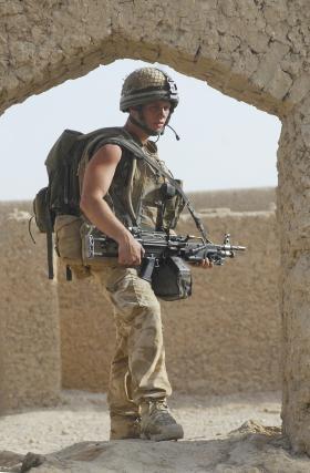 2 PARA LMG Gunner, Afghanistan, July 2008.