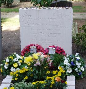 Headstone of Professor Lipmann Kessel, Oosterbeek Civil Cemetery, 2009.