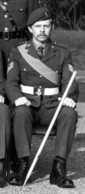 CSgt Brian Lloyd, Sandhurst, 1975.