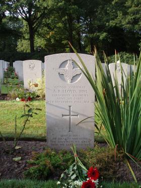Headstone of Cpl Tony Lloyd Oosterbeek Cemetery