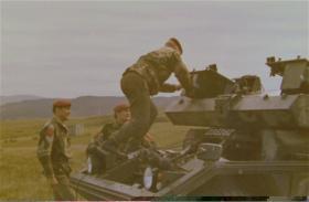 Loading Swingire Missiles onto Ferret Mk 5
