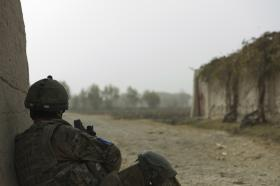 Looking into Tor Ghai before the advance, 2 PARA, Afghanistan
