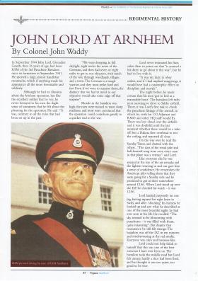 RSM John Lord at Arnhem