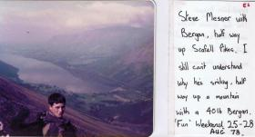 Pte Steve Mesner, 10 PARA, on adventure training in the Lake District, August 1978.