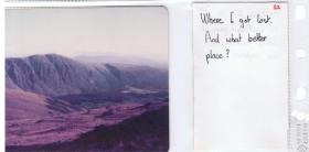 A photograph of the Lake District while on adventure training,1978.