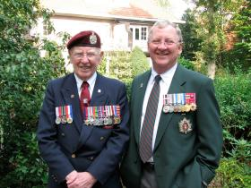 Lt Col James Taylor and his son, Ray at the Arnhem Pilgrimage in 2009.