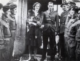 Lt Col and Mrs Pearson shortly after their wedding, 1944