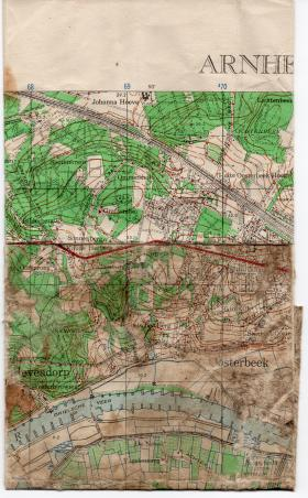 Map used by Lieutenant Colonel C.B. Mackenzie, (GSO I) 1st Airborne Division.