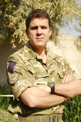 Lieutenant Colonel Frazer Ross, of 23 Engineer Regiment (Air Assault), Afghanistan, 2011