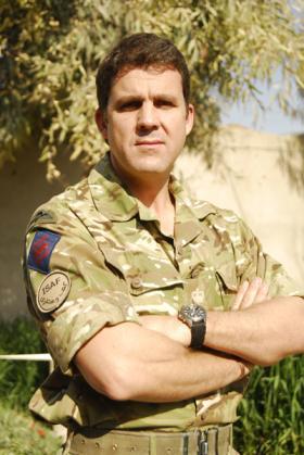 Lieutenant Colonel Frazer Ross, of 23 Engineer Regiment (Air Assault), Afghanistan, 2011