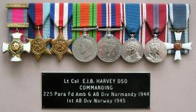 Col Bruce Harvey's medal set, undated.