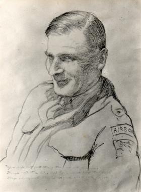 Illustration of Lt Col J Rock, 1942.