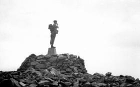2/Lt Dickson deciding what way to go, 1958