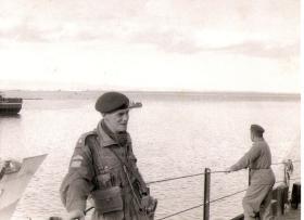 Lt Derek Reavill and RQMS Prewett on board the SS Empire Gull bound for Suez