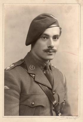 Lt Dennis Rendell, taken in the UK, 1942.