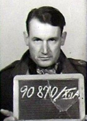 Lt G A Paull's PoW photo, 1944.