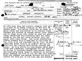 Citation for award of Bar to Military Medal for Sgt Lucas, 7th (LI) Para Bn, Normandy 1944.