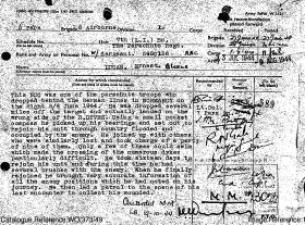 Military Medal Citation for W/Sgt Ernest Lucas, 7th (LI) Para Bn, Normandy 1944.