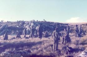 2 PARA Lying Up Point (LUP) before the assault on Wireless Ridge, Falkland Islands, 1982.