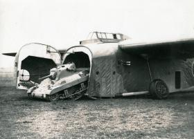 M22 Locust being driven of a Hamilcar Glider, c.1945