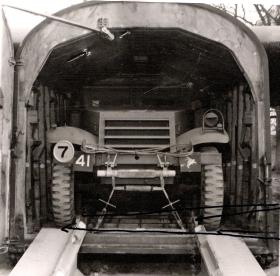 M3 Scout Car in a Hamilcar Glider, AFDC, 1945.
