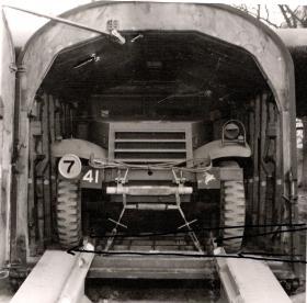 M3 Scout Car in a Hamilcar Glider, AFDC, 1945.